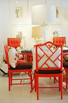 these chairs were at pieces for a minute. vintage, custom cushions, super hot!