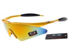 Oakley M Frame Sunglasses Fire Lens Yellow Frame For Cheap Sale e2f0c469b7c