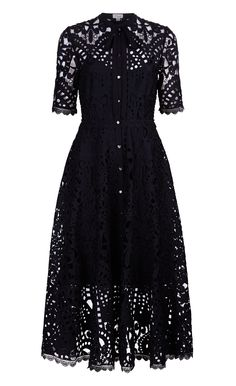 Berry Lace Neck Tie Dress by Temperley London Lace A Line Dress, Tie Dress, Dress Up, Designer Evening Dresses, Evening Gowns, Temperley London Dress, Dress To Impress, Ideias Fashion, Short Sleeve Dresses