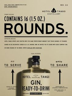 Hotel Tango's military connection—it's the first combat-disabled, veteran-owned distillery in the country—was seen as a novelty rather than a reason to believe. Identity Design, Visual Identity, Corporate Identity, Identity Branding, Corporate Design, Brochure Design, Tango, Whiskey Brands, Web Design