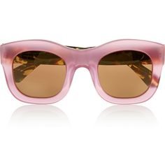 Illesteva Hamilton D-frame acetate mirrored sunglasses ($335) ❤ liked on Polyvore featuring accessories, eyewear, sunglasses, glasses, illesteva, sunnies, pink, mirrored glasses, acetate sunglasses and illesteva glasses