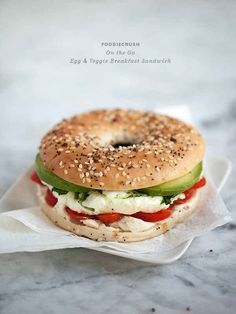 Egg and Vegetable Breakfast Sandwich