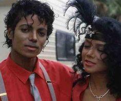 Say, say, say video set -  Michael w/ sister LaToya Jackson