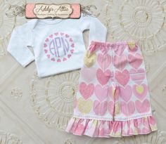 Valentines Day Outfit Girls Valentines Outfit by AddysAtticOnEtsy