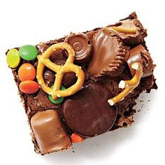These brownies literally get better with every item you toss on them. Pretzels? Sure! Leftover candy? Of course! Nuts? Why not?