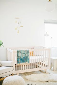we finished the nursery! it's so fun to have it all finished and i looove sitting in here and spacing out and picturing this baby actually living in here instead of inside me. it's defi… Nursery Themes, Nursery Room, Girl Nursery, Girl Room, Kids Bedroom, Nursery Decor, Nursery Ideas, Nursery Office, Childrens Bedroom