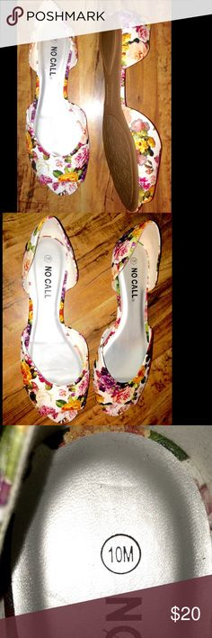 Women's Size 10M Flat Shoes Peep Toe Floral Women's Size 10M Flat Shoes Peep Toe Floral. Make an offer today! No Call Shoes Flats & Loafers