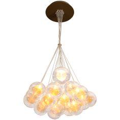 Interieurs - Kadur Drizzle Chandelier Nineteen blown glass orbs with steel canopy