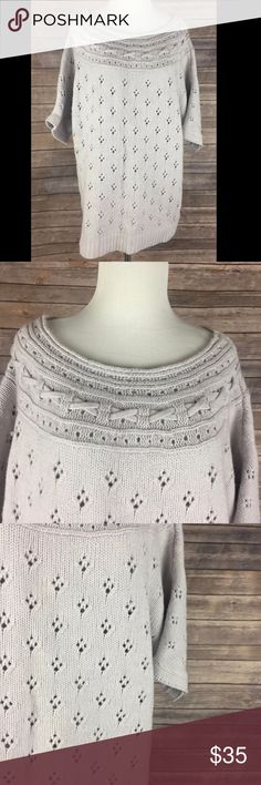 Anthropologie Sleeping On Snow Lavender Sweater Anthropologie Sleeping On Snow Lavender Sweater Batwing/Dolman Short Sleeves Women's Size Medium  Gently used - no stains or tears. Mild pilling/wear. 60% Cotton / 30% Nylon / 10% Wool  Super pretty lavender sweater Short sleeves Scoop neck Woven look neckline  Chest (armpit to armpit) - 22  Sleeve (end to neckline) - 15.5 Length (back of neck to bottom hem) - 28 Anthropologie Sweaters Crew & Scoop Necks