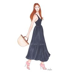 Fashion Sketchbook, Fashion Sketches, Illustration Artists, Fashion Illustrations, Gucci Gown, Fashion History, Girly Things, Art Girl, Fashion Dresses