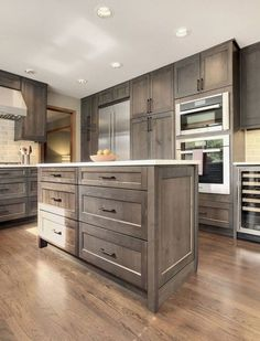 Wood Cabinets For Kitchen - CLICK THE PICTURE for Lots of Kitchen Ideas. #kitchencabinets #kitchenisland