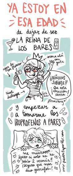Ya estoy en esa edad #reina #bares #ilustracion #yaestoyenesaedad #pedritaparker #humor