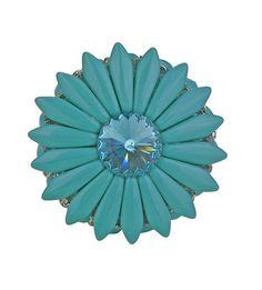 Decorative Drawer Knob Turquoise Swarovski Crystal/Unique Art