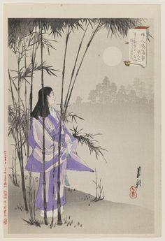 Ogata Gekko - Woman by Bamboo Tree