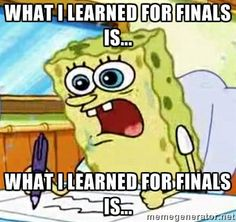 HAHA I LOLd. So relevant and how I feel about my final tomorrow. Like did I even learn anything in exercise assessment?