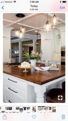 Best Kitchen Lighting Ideas - Modern Light Fixtures for Home - Modern Kitchen Best Kitchen Lighting, Farmhouse Kitchen Lighting, Farmhouse Light Fixtures, Kitchen Lighting Fixtures, Modern Light Fixtures, Farmhouse Style Kitchen, Modern Farmhouse Kitchens, Home Decor Kitchen, New Kitchen