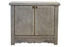Wells Low Cabinet, Silver on OneKingsLane.com