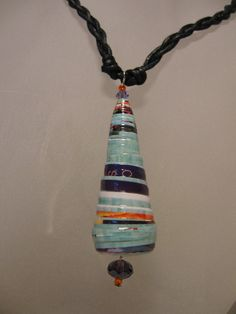 Paper bead necklace- Recycled magazine paper bead jewelry- Handmade