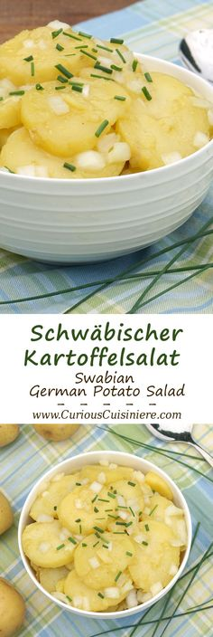 Tangy and sweet Schwabischer Kartoffelsalat, is flavorful German Potato Salad…