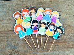 Princess cupcake toppers for a magical party