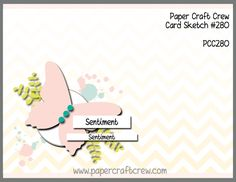 Play along with the Paper Craft Crew for Sketch Challenge 280. The challenge starts February 14, 2018 and ends February 20, 2018 at 1 PM EST.   Visit the blog at www.papercraftcrew.com to check out the design team samples and to submit your project.  #papercraftcrew #papercrafting #sketchchallenge #color #playalong #imakecards #cardmaker #diy #sendacard #craft #stampinup #cardchallenge #papercraft #bigshot #rainydayfun  #designteam #becreative #artsandcrafts #hobby #snailmail #createeveryday…