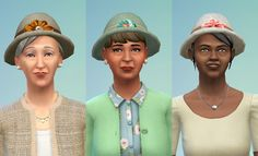My Sims 4 Blog: Granny Hats by JoolsSimming