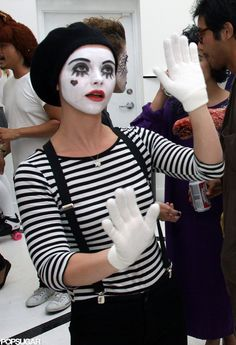 Celeb Halloween costume inspiration: Christina Ricci as a mime