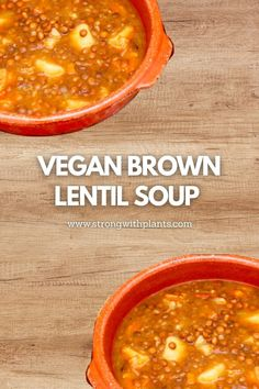 This super simple vegan brown lentil soup is made with whole food natural ingredients and not only that, this is absolutely oil-free! Truly perfect for this fall season! #fallseason #veganrecipes #fallrecipes #whatveganseat #simpleveganrecipes Brown Lentil Soup, Brown Lentils, Vegan Recipes Easy, Fall Recipes, Whole Food Recipes, Lentil Soup Recipes, Plant Based Breakfast, Plant Based Diet, Recipe Using