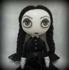 Wednesday Addams Collectable Cloth Doll by ChamberOfDolls on Etsy