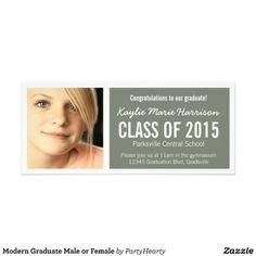 Modern Graduate Male or Female Custom Invitation