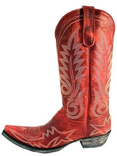 Old Gringo New Nevada Red Womens Boots - L175-262 - 6.5 - M ** To view further for this item, visit the image link.