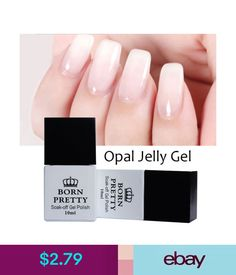 Gel Nails 10Ml Opal Jelly Gel Nail Uv Gel Polish Nail Art Soak Off Varnish Born Pretty #ebay #Fashion