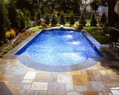 Ideas, Swimming Pools By Jack Anthony With Pine Tree Around It: Beautiful Swimming Pool Ideas For Your Sweet Home