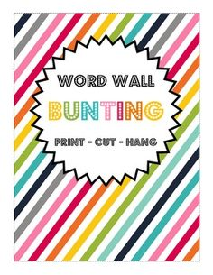Free Printable - Rainbow Word Wall Letter Bunting