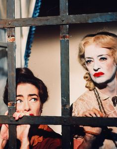 Joan Crawford and Bette Davis photographed for What Ever Happened to Baby Jane? 1962