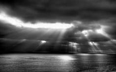 Black and White Landscape Photography    http://wallpaperswiki.org/wp-content/uploads/2012/10/Nature-Landscape-Cloud-Sunlight-Crepuscular-Rays-Black-And-White.jpg
