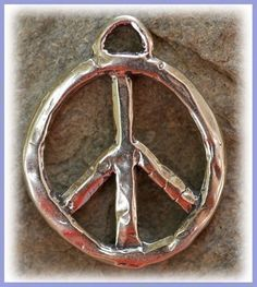 Sterling Silver Peace Sign Symbol Pendant -PP1