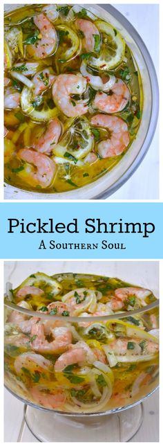 Pickled Shrimp is a true southern favorite served at a party, as an appetizer or salad for lunch!