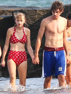 I had pinned this bathing suit on my fashion board, when I came across Taylor wearing it. (Of course...)