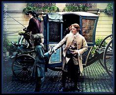 Jamie & Claire from the Outlander series - jamiefraserfan: Outlander, Season Two Diana Gabaldon Outlander Series, Outlander Season 2, Outlander Book Series, Outlander Casting, Fergus Outlander, Claire Fraser, Jamie Fraser, Avatar, Outlander Costumes