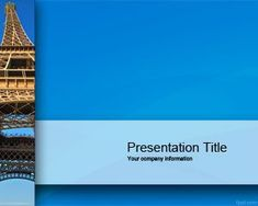 This free vacation trip powerpoint template is a travel presentation this travel ppt template with eiffel tower has a blue background and hd eiffel tower image toneelgroepblik Choice Image