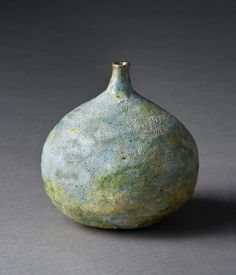 Beatrice Wood, Vase, 1960, Stoneware, glazed, 3¾in. x 3 5/8in. x 3 5/8in., Gift of Donald and Bernice McKenna.