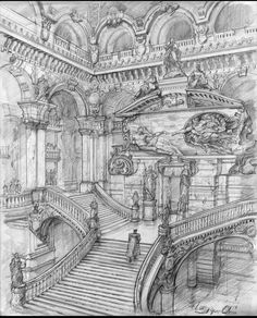 To salute the era of Renaissance Fantasy Architectural Urban Sketches. Click the image, for more art by Longque Chen. Classical Architecture, Architecture Art, Renaissance Architecture, Drawing Sketches, Art Drawings, Architecture Drawing Sketchbooks, Renaissance Kunst, Building Sketch, Perspective Art