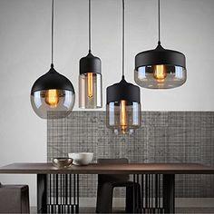 Weare Home Retro-Restaurant oder Küche Durchsichtiger Glas-Lampenschirm Pendelleuchten, Durchmesser 13cm, Höhe 33cm: Amazon.de: Küche & Haushalt