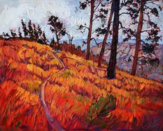 Upper Plateau Painting by Erin Hanson