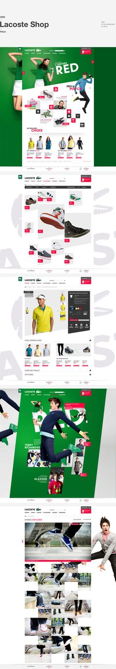 web design | Lacoste Shop