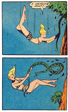 Life Lessons From the Jungle Queens #288: Sometimes that conveniently placedroot isn't as helpful as you think.