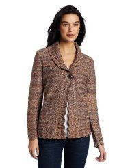 Alfred Dunner Womens Spaced Dye Cardigan