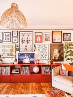Eclectic Living Room, Eclectic Decor, Living Room Decor, Eclectic Gallery Wall, Modern Decor, Eclectic Design, Living Room Vintage, Eclectic Modern, Deco Studio