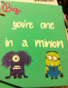 Perfect craft if your big loves despicable me!